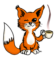 Fox-coffee by theEyZmaster