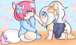 Pastel Babies: Emi and Nino by AD-SD-ChibiGirl