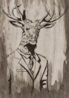 Stag Man by megapowerskills