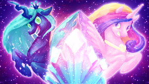 MLPFIM: Disco Space Princess Unicorn Changeling by Kathisofy