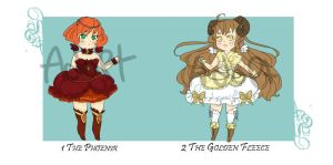 Adoptables: Mythical Magical Girls [closed] by DaniWaffles