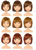 Variation short hairstyles by Melisendevector
