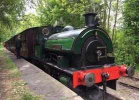 Sir Cecil's Train at Sunniside by rlkitterman