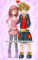 Kairi and Sora (Casual) by TheShelberine
