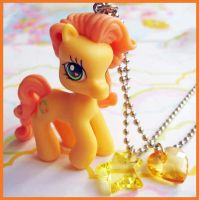 Yellow Little Pony Necklace by cherryboop