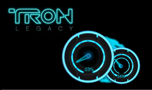 Tron:Legacy CPU Load Meter by thedevilbringer666