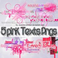 Pink texts pngs by TeamTwi-KikisArt