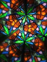 Stained glass kaleidoscope view 3 by dbayne