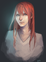 Redhair by Xoue