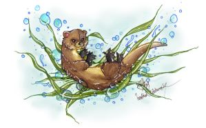 Otter Sea by HeatherHitchman