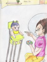 Vegeta and Trunks- Din-Din by Iziume89