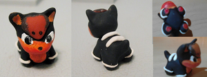 Houndour Chibi Sculpture by CharredPinappleTart