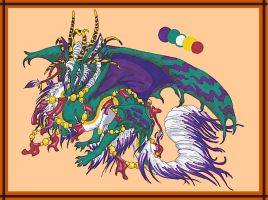 Mardi Gras Dragon Adopt Auction (CLOSED) by LostSoul235