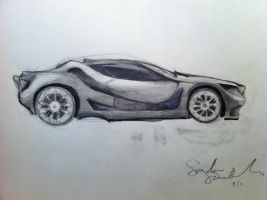 BMW Concept Sketch by sandreezy