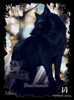 Deathtouch Wolf Token by SandM-Gaming
