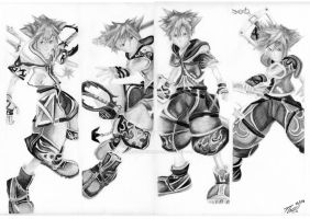 Sora's Drive Forms (Kingdom Hearts by Tommydrawgames