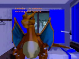 MMD - Charizard can't sleep..... by MMDCharizard