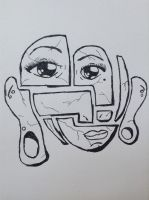 Puzzle face  by opium-luvs-blue