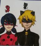 Ladybug and Chat Noir by AstridRigbyGal