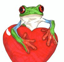 Tree frog valentines by Thestickibear