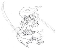 Afro Samurai Pencils by 5000WATTS