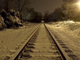 Snow tracks color by Joseph-W-Johns