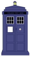 Tardis -flat colors by SerenEvy
