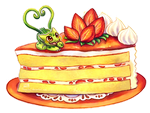 Strawberry Cake by Haychel
