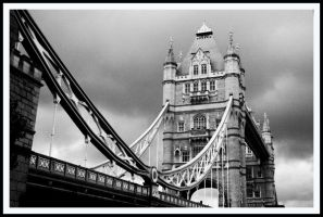 Tower Bridge Black and White by Captain-Planet