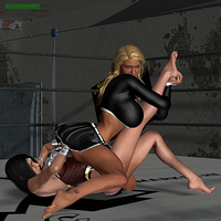 Wrestling Match - Sabrina vs Superior Woman 4 by ssj3gohan007