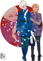 Disney University - Elsa and Anna by Hyung86