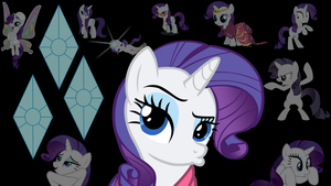 Rarity Duckface Wallpaper by Dawn-Sparkle06