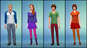 The Sims 4: Scooby-Doo - Mystery Inc. by Tx-Slade-xT