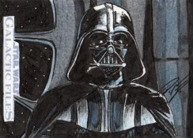 Star Wars GF - Darth Vader Sketch Art Card by DenaeFrazierStudios