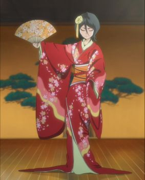Rukia in Red Kimono - Bleach 355 by Sunite
