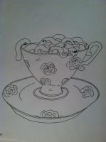 Day 6 - Teacup full of brains by RidingTheWave