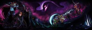Heroes of the Storm: Fight at the Cursed Hallow by MinishCapsLock
