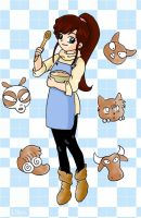 Ukyo and gingerbread animals by Ptitukyo