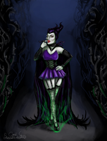 Maleficent the Magnificent Pinup by SummerSucculence