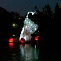 Swan Lantern by Swingerzetta