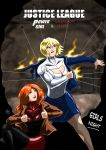Power Girl and Crimson Fox - Girls Night by adamantis