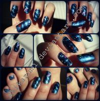 Space nails by Shikazumi