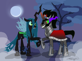 King Sombra and Queen Chrysalis by Holiguti