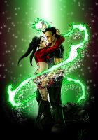 Rose Red and Voltage Storm by DaosX