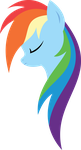 Minimal Rainbow Dash by xPesifeindx
