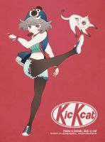 Kick cat by Pearlgraygallery