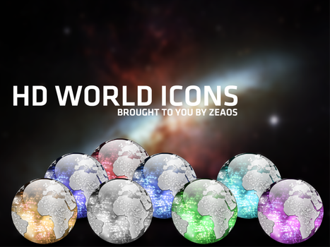 HD world icons by Zeaos