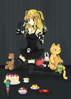 Misa Tea Time color by HokutoFighter