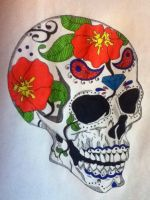 Sugar skull design by gbftattoos