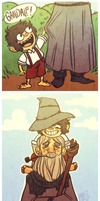 gandalf and young frodo by dandeliar